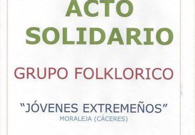 El grupo folklórico Jóvenes Extremeños de Moraleja celebra este martes un acto solidario en Acebo