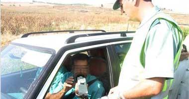 La Guardia Civil detiene a siete personas por conducir bajos los efectos del alcohol en la provincia de Badajoz