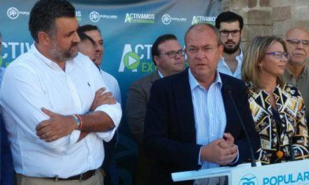 Monago afirma que la única oposición que tiene el gobierno socialista en Extremadura es el PP