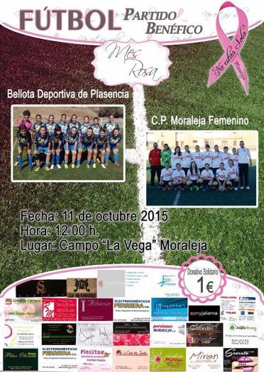 Moraleja celebra este sábado un partido de fútbol solidario en favor de los enfermos de cáncer