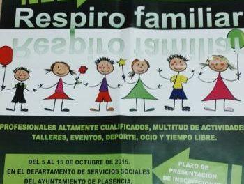 """El Ayuntamiento de Plasencia y la asociación EUEXIA ponen en marcha el proyecto """"Respiro Familiar"""""""