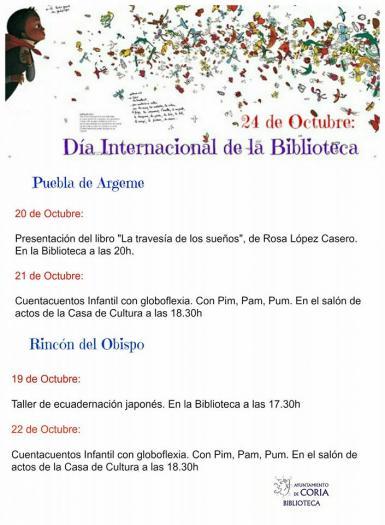 Puebla de Argeme y Rincón del Obispo celebrarán el Día Internacional de la Biblioteca con talleres y cuentacuentos