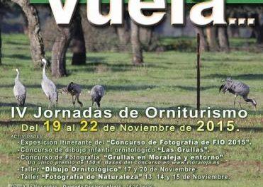 Las IV Jornadas de Orniturismo Moraleja Vuela se desarrollarán del 19 al 22 de este mes