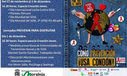 """Moraleja acogerá hasta el próximo miércoles el programa """"Como prevención, ¡usa condón!"""""""