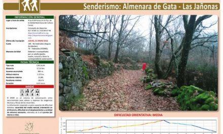 """El plazo de inscripción de la ruta """"Almenara de Gata-Las Jañonas"""" permanecerá abierto hasta este jueves"""
