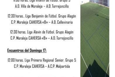"""El campo de fútbol """"La Vega"""" de Moraleja acogerá este fin de semana cuatro partidos de diferentes categorías"""