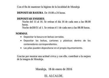 El Ayuntamiento de Moraleja emprende una campaña para mejorar la salubridad del municipio