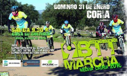 """La IX Marcha BTT """"Medina Cauria"""" reunirá a más de 250 participantes este domingo en Coria"""