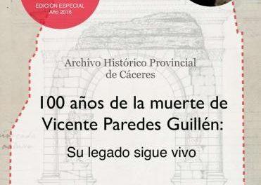 El Archivo Histórico de Cáceres recuerda a Vicente Paredes con motivo del centenario de su muerte