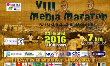 Coria celebrará el próximo 24 de abril la Media Maratón Ciudad de Coria y el Cross Urbano Subida del Cubo