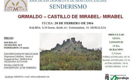 La Asociación Xálima de Moraleja organiza una ruta senderista de Grimaldo a Mirabel este domingo