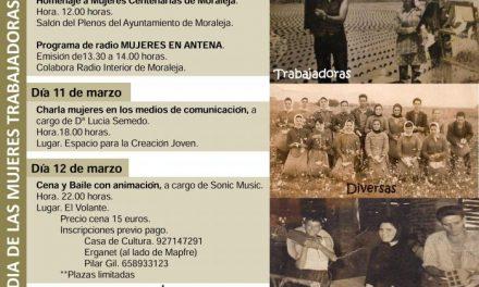 Moraleja acogerá charlas, homenajes y jornadas de convivencia para celebrar el Día de la Mujer Trabajadora
