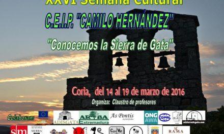 El colegio Camilo Hernández de Coria dedicará su XXVI Semana Cultural a promocionar Sierra de Gata
