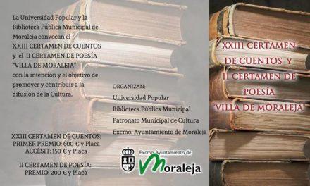 El Ayuntamiento de Moraleja convoca una nueva edición del Certamen de Cuentos y Poesía «Villa de Moraleja»