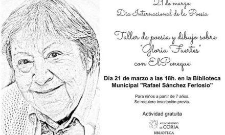 El Ayuntamiento de Coria rendirá homenaje a Gloria Fuertes en el Día Internacional de la Poesía