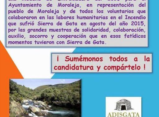 Adisgata crea una campaña para promover la concesión de la Medalla de Extremadura a Moraleja