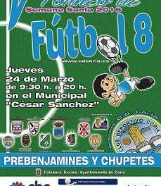 Coria celebrará este jueves el V Torneo Semana Santa de Fútbol 8 con las categorías prebenjamín y chupete