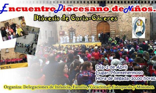 Montehermoso acogerá este sábado el Encuentro Diocesano de Infancia de la Diócesis de Coria-Cáceres