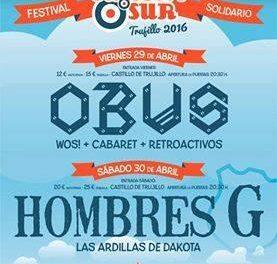 Hombres G y Obús liderarán el cartel del Festival Europa Sur que se celebrará en Trujillo el 29 y 30 de abril