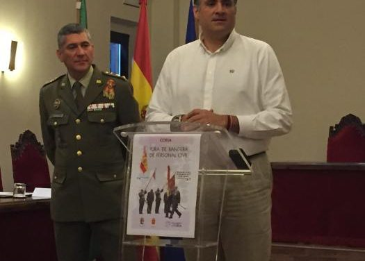 Coria acogerá los días 21 y 22 de mayo los actos de jura de bandera civil organizada por el Cefot de Cáceres
