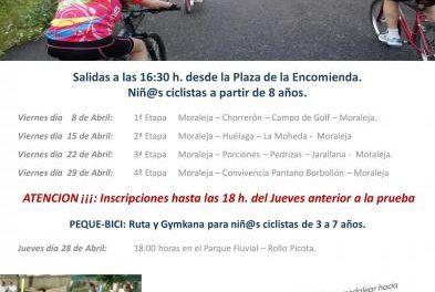 Moraleja dará comienzo este viernes al VIII Mes de la Bicicleta con una ruta a El Chorrerón