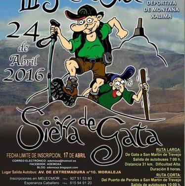 La III Travesía de Sierra de Gata  recorrerá el día 24 de este mes Gata y San Martín de Trevejo