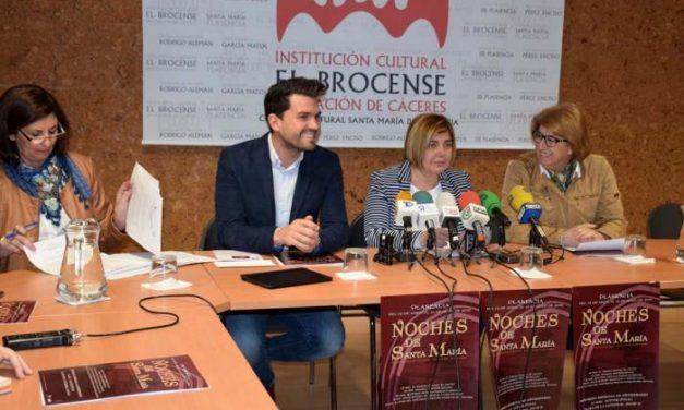 Diputación de Cáceres invertirá 30.000 euros en la nueva edición de las Noches de Santa María