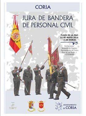 Continúa abierto el plazo de inscripción para participar el 22 de mayo en la jura de bandera civil de Coria