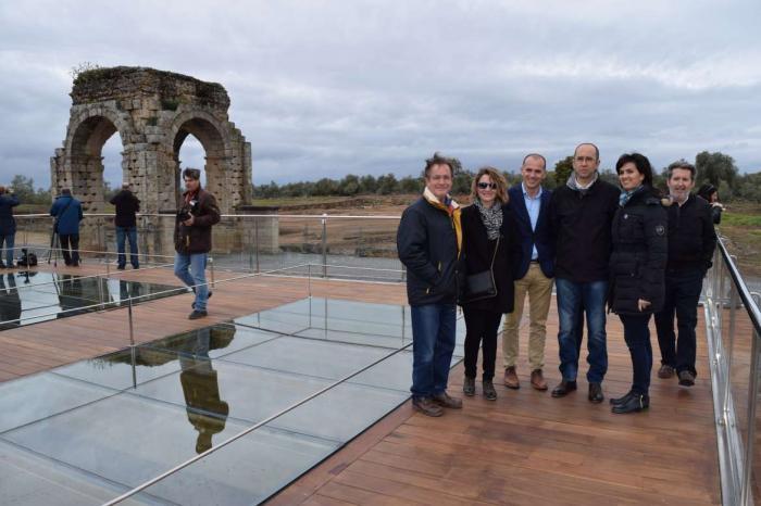 Cultura recupera el anfiteatro y mejora la visita a las termas de la Ciudad Romana de Cáparra