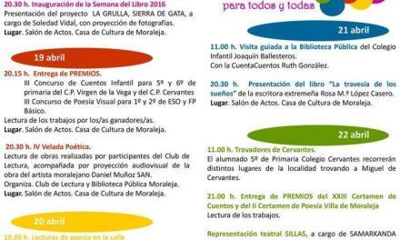 La Semana del Libro de Moraleja arranca este lunes con la presentación del proyecto «La Grulla»