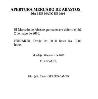 El Ayuntamiento de Moraleja amplía los horarios de apertura con motivo de las fiestas de este fin de semana