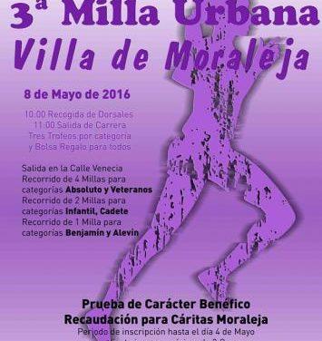 El Ayuntamiento de Moraleja amplía hasta este viernes el plazo de inscripción de la III Milla Urbana