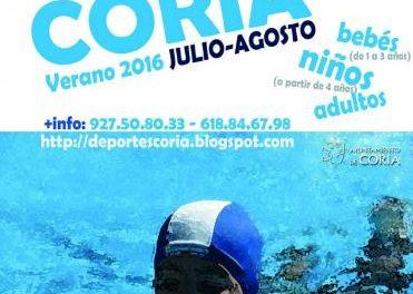 El Ayuntamiento de Coria abrirá el 7 de junio el plazo de inscripción de las actividades de deporte acuático