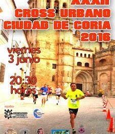 El ayuntamiento abre el plazo de inscripción del XXXII Cross Urbano Ciudad de Coria del 3 de junio