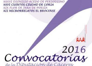 La gala del fallo del Certamen de Cuentos Ciudad de Coria tendrá lugar el próximo 1 de junio