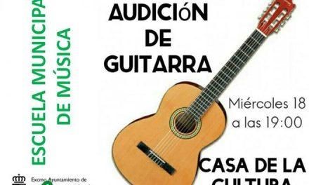 Alumnos de la Escuela de Música de Moraleja ofrecerán este miércoles un concierto de guitarra