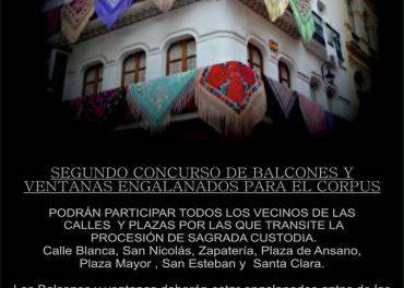 La Cofradía de la Vera Cruz de Plasencia organiza un concurso de balcones con motivo del Corpus