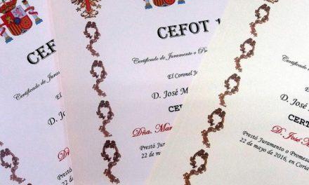 Los participantes en la jura de bandera de Coria podrán recoger sus certificados a partir del próximo martes