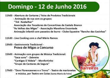 La localidad lusa de Segura, en Idanha a Nova, acogerá este domingo el II Festival de las Migas
