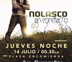El cantante sevillano Nolasco actuará gratis en concierto en la Plaza de la Encomienda de Moraleja el 14 de julio