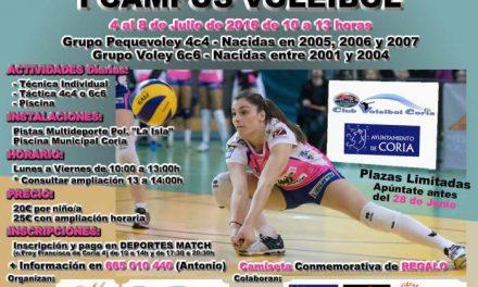 Coria acogerá del 4 al 8 de julio el I Campus de Voleibol para fomentar la práctica de este deporte
