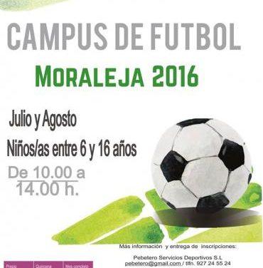 El Ayuntamiento de Moraleja abre  el plazo de inscripción para los Campus de Fútbol y de Deportes de Raqueta