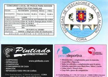 La Sociedad de Pescadores de Coria celebrará este fin de semana un concurso de pesca en los Charcos Cachón