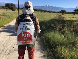 El placentino Jesús Muñoz recauda casi 6.000 euros para Valeria tras caminar 1.005 km