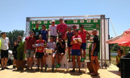 Más de un centenar de corredores participa en el Campeonato de Extremadura de Triatlón de Coria