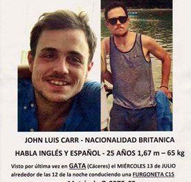 La Guardia Civil investiga la desaparición de un joven británico visto por última vez en Gata