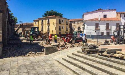 Continúa avanzando la primera fase de las obras de rehabilitación de la Catedral de Coria