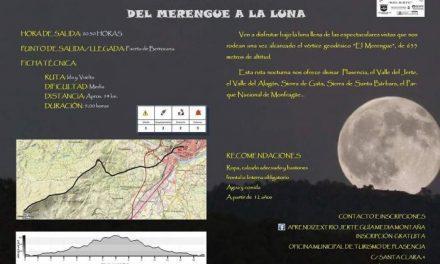 Aprendizext Río Jerte organiza una ruta de senderismo nocturno por la ruta Del Merengue