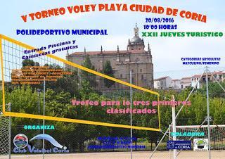 """El plazo de inscripción para el V Torneo de Voley-Playa """"Ciudad de Coria"""" ya se encuentra abierto"""