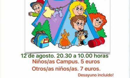 El municipio de Moraleja acogerá el día 12 una acampada nocturna para los más pequeños